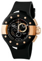 Invicta 6483 S1 Rally Swiss Quartz Chronograph Rose Tone Black Polyurethane Strap Watch | Free Shipping