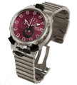 Invicta 0678 Mens Coalition Force Sniper Swiss Made Red Dial Chronograph Titanium Watch | Free Shipping