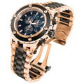 Invicta 5214 Subaqua Specialty Reserve Swiss Made Chronograph 18K Rose Gold Tone and Black IP Stainless Steel Bracelet Watch | Free Shipping