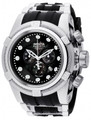 Invicta 0826 Reserve Men's Bolt Zeus Swiss Made Quartz Chronograph Mother-of-Pearl Dial Polyurethane Strap Watch | Free Shipping