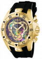 Invicta 6976 Reserve Excursion Flex Swiss Made Chronograph Mother-of-Pearl Dial Stainless Steel Case Polyurethane Watch | Free Shipping