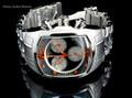 Invicta 1686 Men's Lupah Revolution Swiss Made Quartz Chronograph Stainless Steel Bracelet Watch   Free Shipping