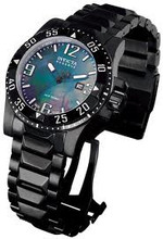 Invicta 0516 Men&#039;s Reserve Collection Grey Mother-Of-Pearl Dial Black Ion-Plated Stainless Steel Watch | Free Shipping