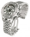 Invicta 1565 Men's Reserve Swiss Made Chronograph Day Retrograde Big Date Silver Dial Stainless Steel Bracelet Watch | Free Shipping