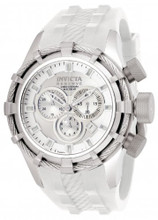Invicta 1376 Reserve Bolt Swiss Quartz Chronograph All White Polyurethane Strap Watch | Free Shipping