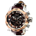 Invicta 10779 Reserve VENOM Swiss Quartz Chronograph Black Leather Strap Watch | Free Shipping