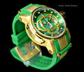 Invicta 10565 S1 Barrel Swiss Made Chronograph 18K Gold Plated Green Strap Watch (NEW) | Free Shipping