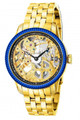 Invicta 80013 Men's Specialty Mechanical 18K Gold Plated Case Blue I.P Bezel Stainless Steel Bracelet Watch | Free Shipping