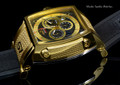 Invicta 1082 S1 Swiss Quartz Chronograph 18k Gold Plated Case Black Polyurethane and Nylon Watch | Free Shipping