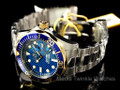 Invicta 12566 Men's Grand Diver Quartz Stainless Steel Bracelet Watch w/ 3-Slot Dive Case | Free Shipping