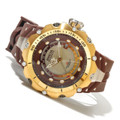 Invicta 12775 Reserve Venom II Swiss GMT River Pearl Dial Gold Tone Brown Strap | Free Shipping