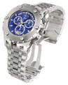 Invicta 1564 Men&#039;s Reserve Swiss Made Chronograph Day Retrograde Big Date Blue Dial Stainless Steel Bracelet Watch | Free Shipping