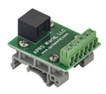 RJ-25 (6P6C) breakout board to screw terminals, with DIN rail clips