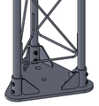 Tower base plate for standard Rohn 25G tower section