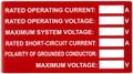 NEC label for solar array