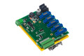 DCSWC: DC Switch Controller, 5 module motherboard, 8 analog inputs