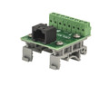 RJ-45 breakout board to screw terminals with DIN rail clips