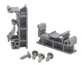 DIN rail mounting clips and screws