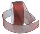 Luxor wired ribbon in red