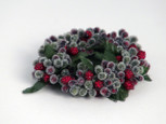 Hunter Green & Red Rice Berry Candle Ring