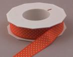 Pumpkin Swiss Mini Dots Ribbon, 3/8 or 7/8 inch width