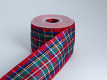 Holiday Tartan Plaid-Authentic Clan Royal Stewart Ribbon | 25 yards | choice of 5 widths