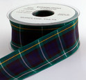 Authentic Clan Campbell Tartan Plaid Ribbon, 25 yards, choice of 5 widths