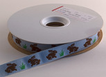 Chocolate Bunny Ribbon, 5/8 inch, increments of 5 yards or 27-yard roll.
