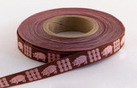 Piggy Ribbon,  5/8 inch, increments of 5 yards or 27-yard roll