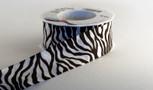 Wired Zebra Striped Ribbon, 1-1/2 inch width,  20 yard roll