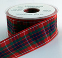 Frazer Tartan Ribbon, 25 yards, choice of 5 widths
