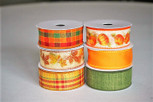 Fall Ensemble of 60 yards of Wired Ribbon 100% Polyester