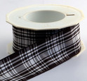 Menzies Tartan Ribbon , 25 yards, choice of 5 widths