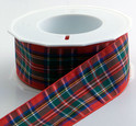 Authentic Clan Royal Stewart Tartan Plaid Ribbon , 25 yards, choice of 5 widths