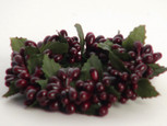 Small 3 inch Rice Berry Candle Ring - Burgundy
