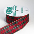 Wired Holiday Plaid Ribbon | 2 1/2 inch width | 50 yards now called McShay Plaid