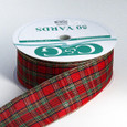 Wired Traditional Plaid Ribbon | 2 1/2 inch width | 50 yards Now Named Multi Classic