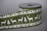 Wired Reindeer Run Ribbon |2 1/2 Inches Wide | 10 yards