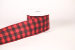 Wired Buffalo Flannel Plaid Ribbon | 2.5 Iinches Wide | 10 yards
