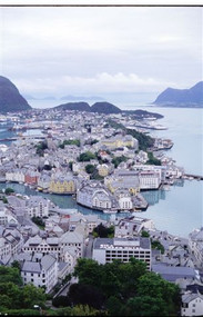 Aalesund, Glossy Greeting Card