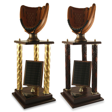 Baseball Glove Victory Trophy