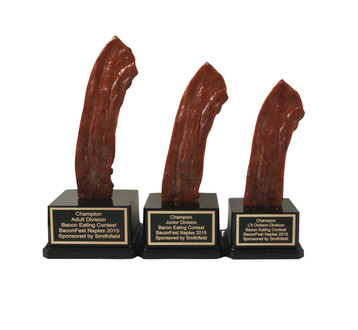 1st, 2nd and 3rd Place Bacon Trophy Set