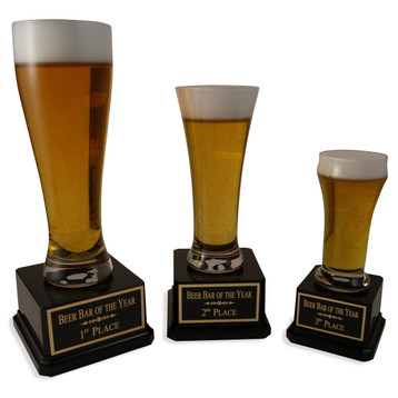 1st, 2nd, and 3rd Beer Trophy Set