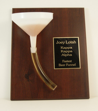 Beer Funnel Award Plaque