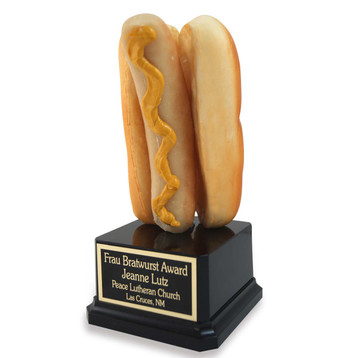 Bratwurst on Bun Trophy