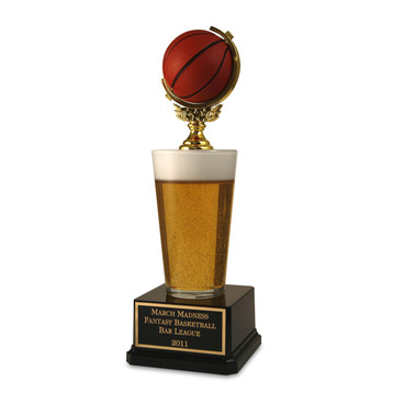 Basketball Beer Pint Trophy