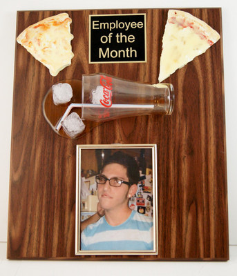 employee of the month plaque with picture  Employee of the Month Photo Plaque