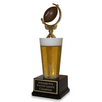 Football Beer Pint Trophy