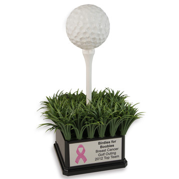 Jumbo Golf Tee and Golf Ball Trophy