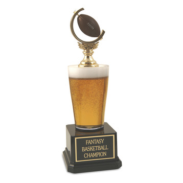Jr. Beer Pilsner Football Trophy